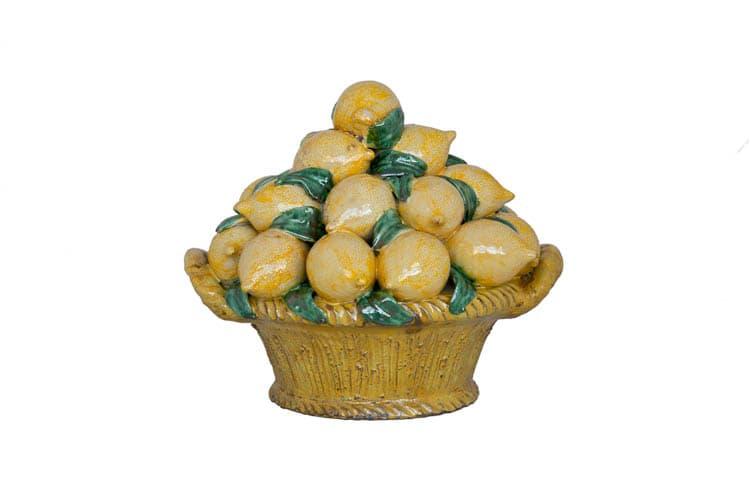Cesto di frutta limoni ceramiche giacomo alessi 750 20